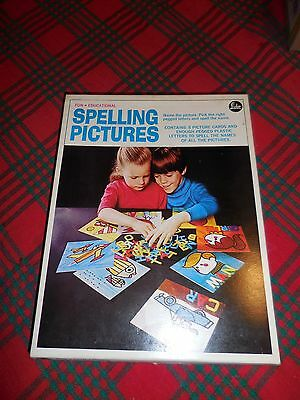 1960s  SPELLING PICTURES VINTAGE EDUCATIONAL GAME