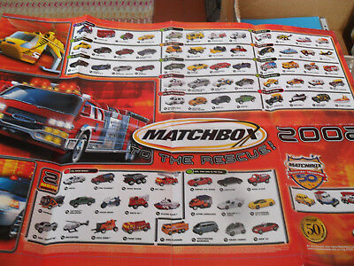 Large Matchbox Toy Catalogue 2002 Uk Poster Edition Excellent Condition