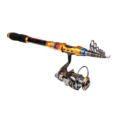 Telescopic Fishing Rod and Reel Combos Spinning Reel 2.7m Rod + DK3000 Reel