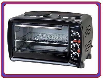 Portable Table Top Electric Mini Oven Grill and Double Hob Hotplate Cooker AA012