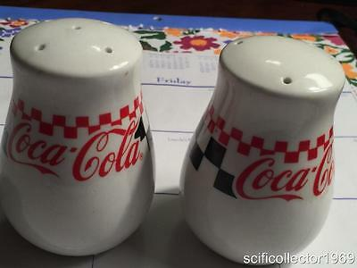 1996 Gibson Coca Cola Salt & Pepper Shakers