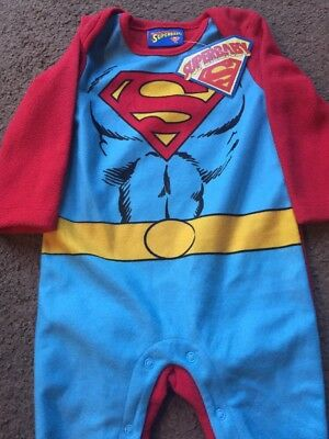 Dc Comics Superman Babies Fleece Superbaby Outfit (up To 9 Months)