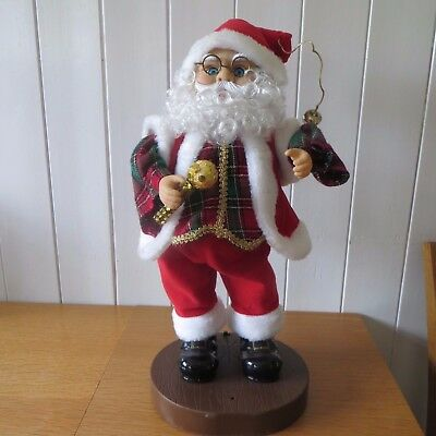 "16"" Tall Twist & Singing Father Christmas Xmas Santa Clause With Microphone"