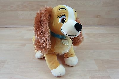 "Disney Lady and the Tramp 12"" Plush Dog Soft Toy. Genuine Official Disney Store"