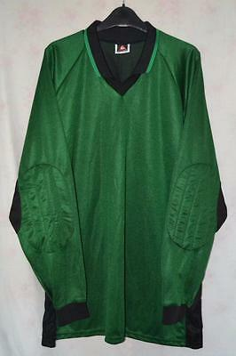 """Retro Le Coq Sportif Green Goalkeeper Shirt With Padded Arms Uk Size 50/52"""""""