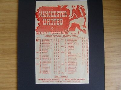 1946 MANCHESTER UNITED v SHEFFIELD WEDNESDAY  Wartime Football League North