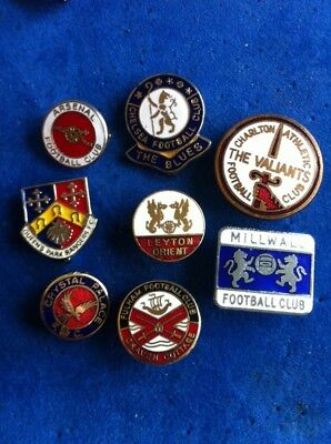 Vintage Badge Collection London Football Supporters Club Reeves Coffer Job Lot