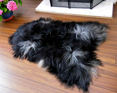XXLARGE! RARE BREED! Genuine ICELANDIC Sheepskin Rug, NATURALLY Spotted