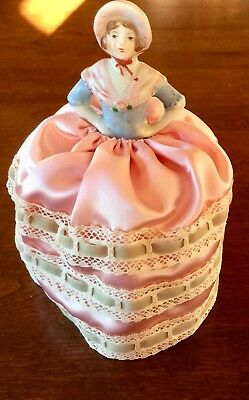 Antique  Victorian German Half Doll Pin Cushion * Free Shipping