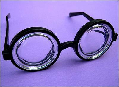 Geek Glasses Black Round Nerd Specs Beer Goggles Party Costume New Free Post
