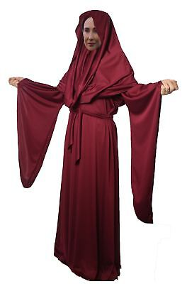 Ladies Deluxe Burgundy Red Woman Lady Melisandre Fancy Dress Costume Halloween