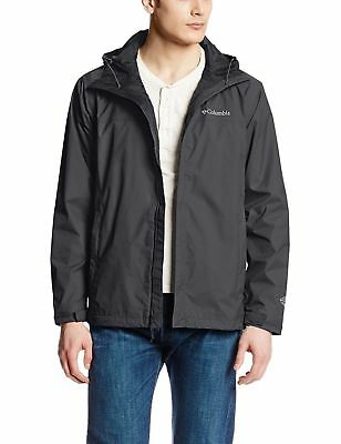 Columbia Mens Watertight II Front-Zip Hooded Rain Jacket Black 1533891-010