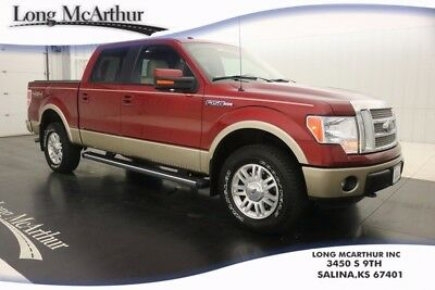 2013 Ford F-150 LARIAT 4WD SUPERCREW CAB V8 4X4 TRUCK MSRP $46540 ONE OWNER! REMOTE START SYSTEM, LEATHER TRIMMED SEATS, BED COVER, SIRIUSXM, SYNC