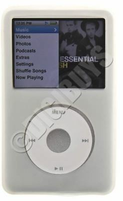 WHITE Silicone skin case for new iPod Classic 120G 160G