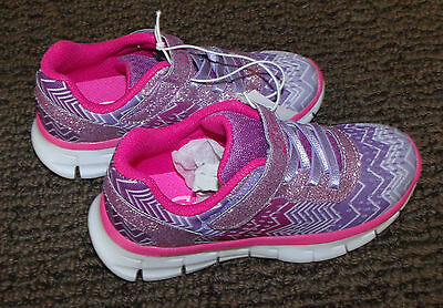 S-SPORT design by SKECHERS PURPLE ,SIZE 11T ATHLETIC Girls shoes, ZIGZAGZ