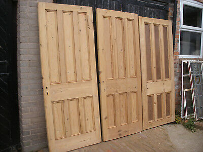 Large reclaimed Victorian six panel stripped pine doors.