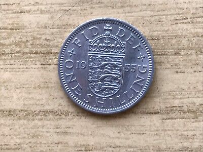 1955 British One Shilling Coin Elizabeth II