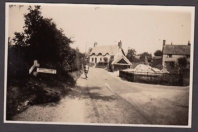 Postcard Burbage area Wiltshire signpost to Marten Tidcombe and Hungerford RP