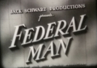 federal man 16mm feature film 2x1200ft stars william henery and pamerla blake