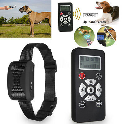 Waterproof Rechargeable Remote LCD Electric Dog Training Shock Collar 4 Modes