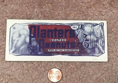 Vintage 1930'S Planters Mr Peanut Pick Of Plantation Blotter Or Bookmark