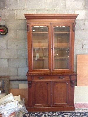 Antique Cupboard Bookcase Good Condition. Mahogany.