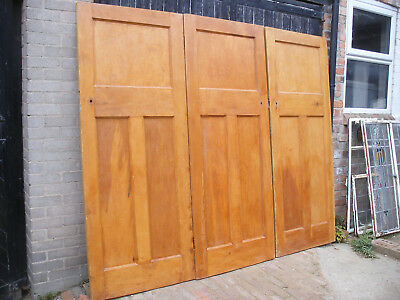 Reclaimed 1930s 1 over 2 panel pine doors.  (5 available)