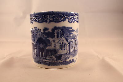George Jones Abbey Blue & White Spoon Holder British Pottery Antique Retro