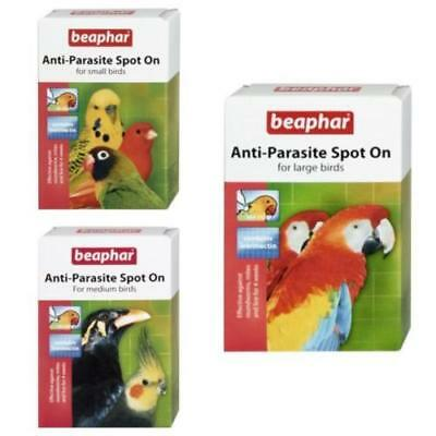 Beaphar Anti Parasite Spot On Wormer Ivermectin Treatment Caged Birds & Parrots