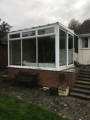 Used white upvc conservatory