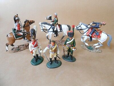 Military Figures of the Early 19th Century - 6 x Del Prado Painted Lead Figures