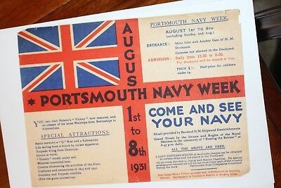 Portsmouth Navy Week   Leaflet August 1931