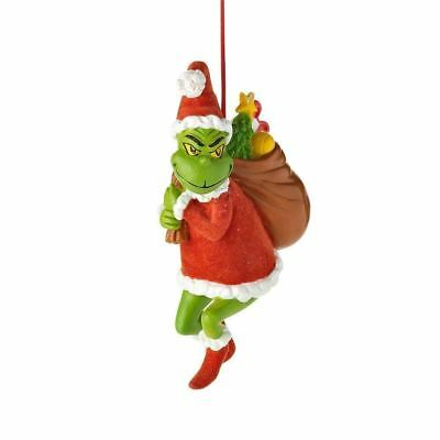 Enesco Department 56 Grinch Stealing Christmas Ornament 4.625-Inch New