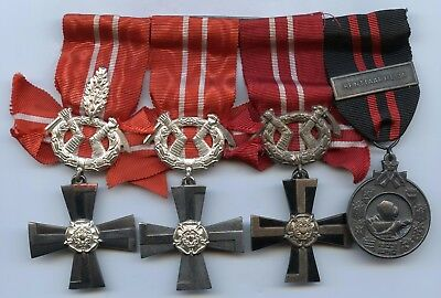 Finland Hero WWII Bar Winter War 3 Order 1939 -41 Cross of Liberty with Medal !!