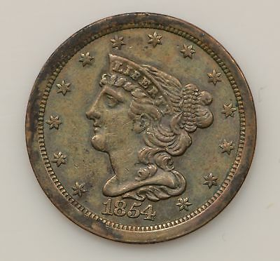 1854 Braided Hair Liberty Head Half Cent *G37