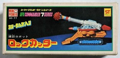 S510. Mini Power UFO COMMANDER 7 SERIES Die-Cast ROCK CUTTER by Shinsei 1970s ;;