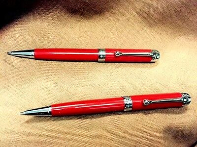 Aurora SET/2 Talentum Red Ballpoint & Mechanical Pencil ~ 50% Off Retail!