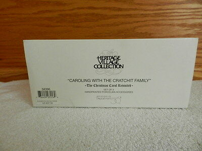 "Dept 56 Dickens' Heritage Village Collection ""Caroling With The Crachit Family"""