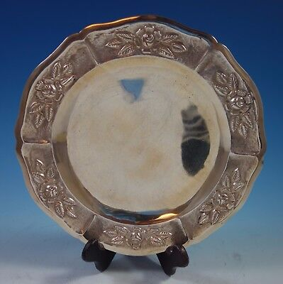 """Aztec Rose by Maciel Mexican Sterling Silver Charger Plate 11"""" 15.2 ozt. (#1757)"""