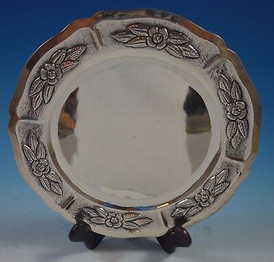 """Aztec Rose by Maciel Mexican Sterling Silver Charger Plate 11"""" 17.7 ozt. (#1758)"""