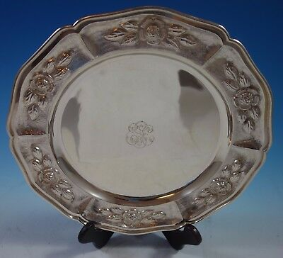 """Aztec Rose by Sanborns Mexican Sterling Silver Charger Plate 11"""" 20.1 ozt. #1760"""