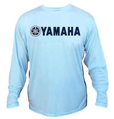 Yamaha Long Sleeve Microfiber UPF 50 Vented Fishing TShirt - Arctic Blue