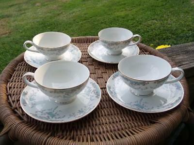 Imperial China designed by W Dalton Seville - Set of 4 Cup & Saucer Sets