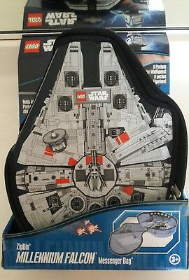 NEW ZIPBIN Lego Star Wars Millennium Falcon MESSENGER BAG  MIP