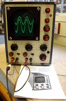 Advance OS25 Vintage Dual Beam Oscilloscope (Valves). Working Order with Manual