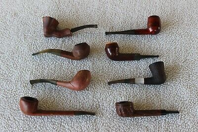 Vintage Tobacco Pipes Lot of 8 Long John, Hilson, Oxford