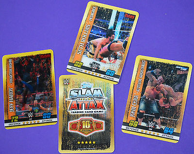 Topps 2017 WWE SLAM ATTAX 10 (10th Edition) TCG Flix-Pix Limited Edition cards