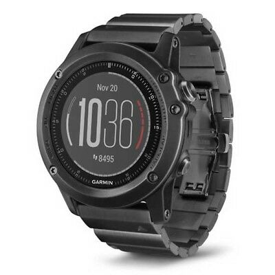 Garmin Fenix 3 Sapphire Hr Steel One Size Black Multifunktionsuhren