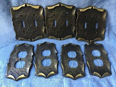 Vintage AMEROCK Carriage House Double Switch Plate & Outlet Cover Set MULTIPLES