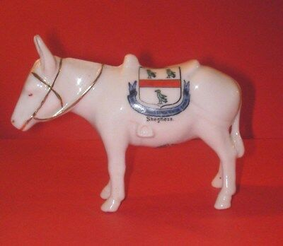 Willow Art Crested China  Donkey in Harness No 294  Skegness Crest